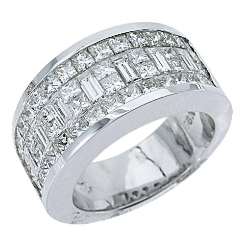 mens 3 17 carat princess baguette cut diamond ring wedding