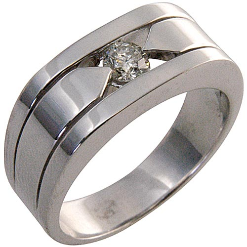 MENS 40 CARAT SOLITAIRE ROUND CUT DIAMOND RING WEDDING BAND TENSION SET