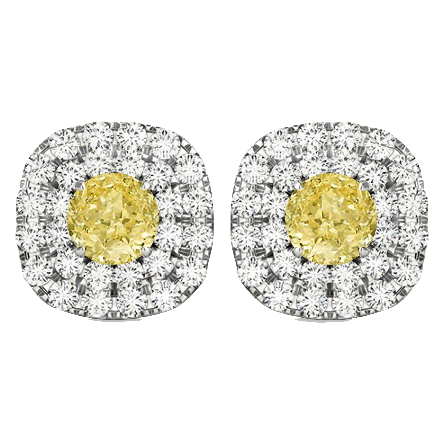 sterling stud silver earrings diamond d products cluster colored