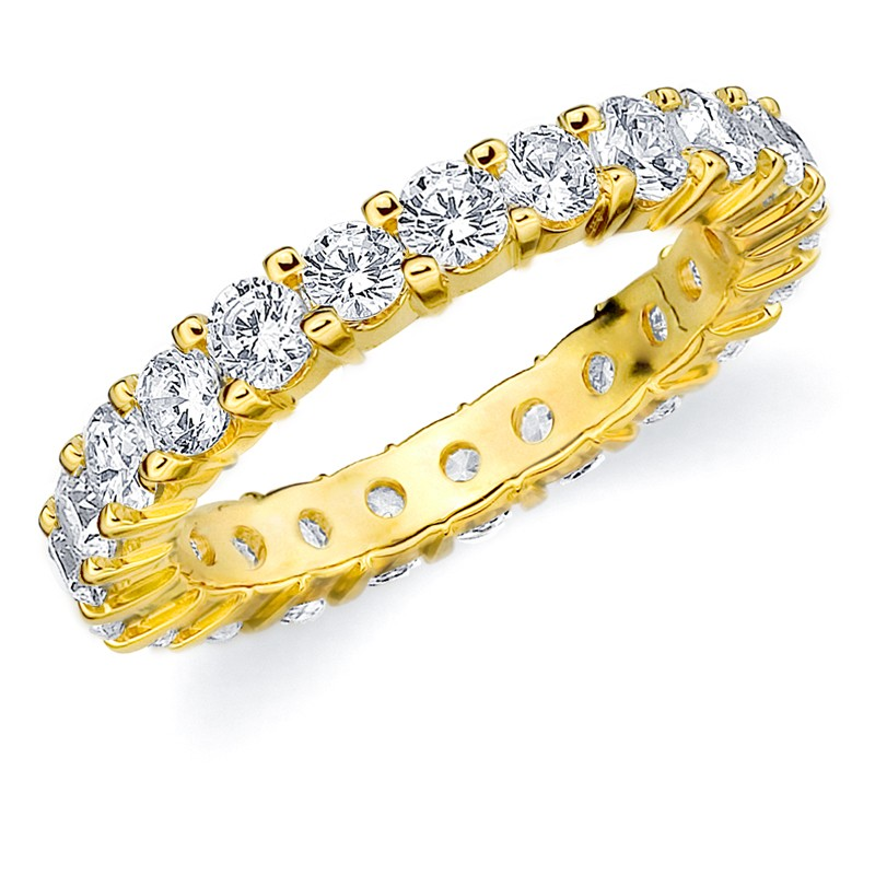 men diamond yellow rng cluster s real gold mens bands eternity band ring