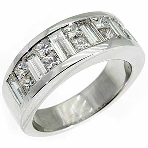 set diamond band prev shop milgrain channel bands wedding baguette or ring gold